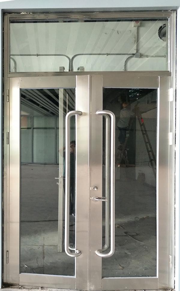 广东不锈钢甲级双开玻璃防火门带窗